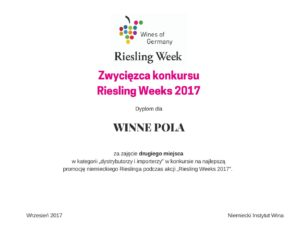 Winnepola na podium podczas Riesling