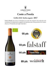 Grillo Coste a Preola uznane za jedno z najlepszych sycylijskich win