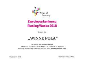 Winne Pola zwycięzcą Riesling Weeks 2018 w Polsce!!!